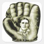 Retro Vintage Kitsch Baseball Glove Nibs Ad Art Sticker