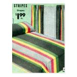 Retro Vintage Kitsch Bed Spread Carnival Stripes Postcard