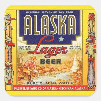 Retro Vintage Kitsch Beer Alaska Lager Label