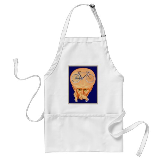 Retro Vintage Kitsch Bicycle Head Adult Apron