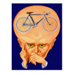 Retro Vintage Kitsch Bicycle Head Postcard