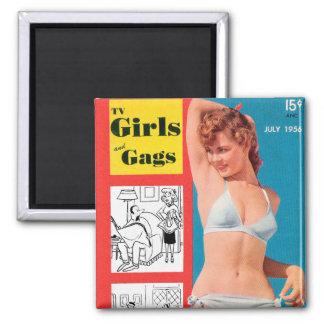 Retro Vintage Kitsch Bikini Pin Up TV Girls & Gags Magnet