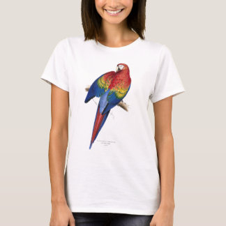 Retro Vintage Kitsch Birds Red And Yellow Macaw T-Shirt