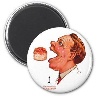 Retro Vintage Kitsch Biscuit Bob Optical Illusion Magnet