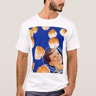 Retro Vintage Kitsch Biscuit Space Boy Ad T-Shirt