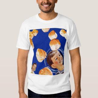 Retro Vintage Kitsch Biscuit Space Boy Ad Tee Shirt