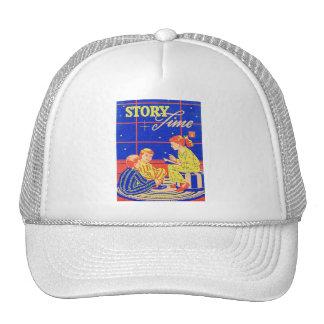 Retro Vintage Kitsch Book Story Time Trucker Hat