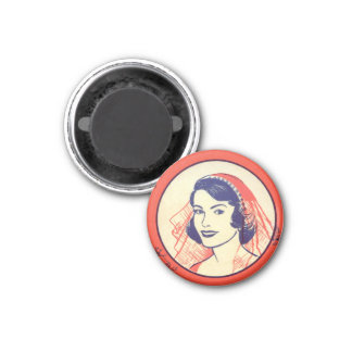 Retro Vintage Kitsch Bridal Shower Party Games 1 Inch Round Magnet
