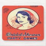 Retro Vintage Kitsch Bridal Shower Party Games Mousepads