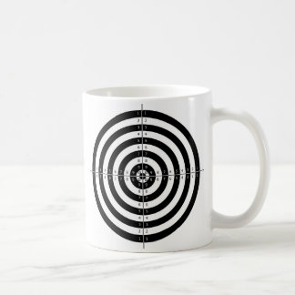 Retro Vintage Kitsch Bullesye Archery Target Coffee Mug