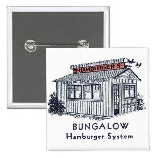 Retro Vintage Kitsch Bungalow Hamburger System Button