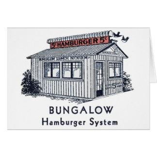 Retro Vintage Kitsch Bungalow Hamburger System Card