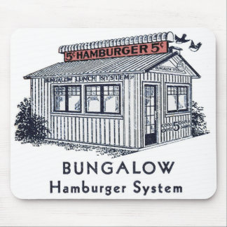 Retro Vintage Kitsch Bungalow Hamburger System Mouse Pad