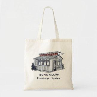 Retro Vintage Kitsch Bungalow Hamburger System Tote Bag