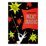 Retro Vintage Kitsch Canned Meat Magic Greeting Cards