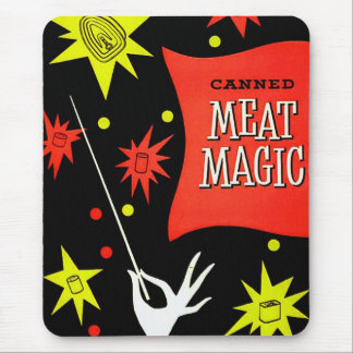 Retro Vintage Kitsch Canned Meat Magic Mouse Pad