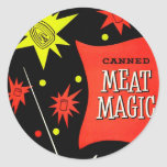 Retro Vintage Kitsch Canned Meat Magic Stickers
