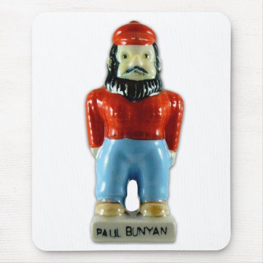 Retro Vintage Kitsch Ceramic Paul Bunyan Mouse Pad