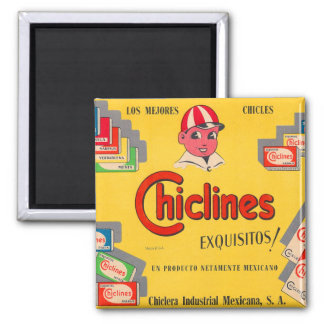 Retro Vintage Kitsch Chewing Gum Chiclines Mexico Magnet