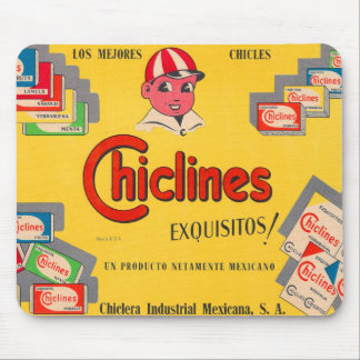 Retro Vintage Kitsch Chewing Gum Chiclines Mexico Mouse Pad