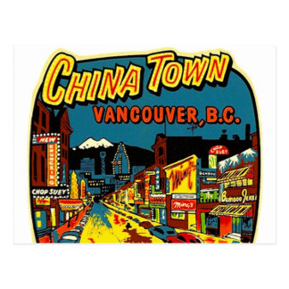 Retro Vintage Kitsch China Town Vancouver BC Postcards