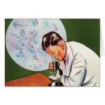 Retro Vintage Kitsch Chinese Germ Scientist Card