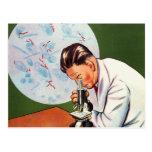 Retro Vintage Kitsch Chinese Germ Scientist Postcard