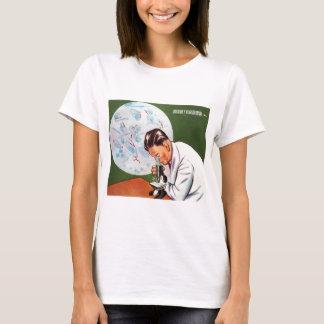 Retro Vintage Kitsch Chinese Germ Scientist T-Shirt