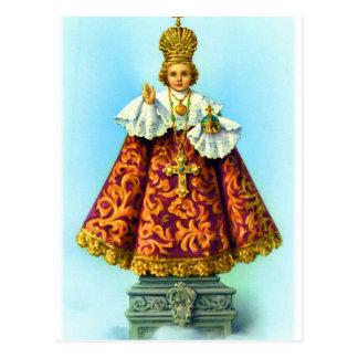 Retro Vintage Kitsch Christ Icon Littlest Saint Postcard