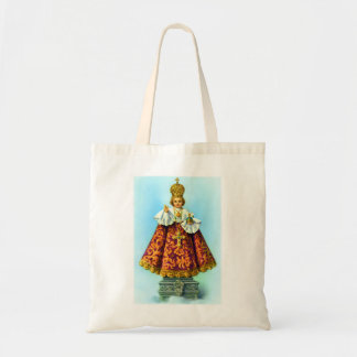 Retro Vintage Kitsch Christ Icon Littlest Saint Tote Bag