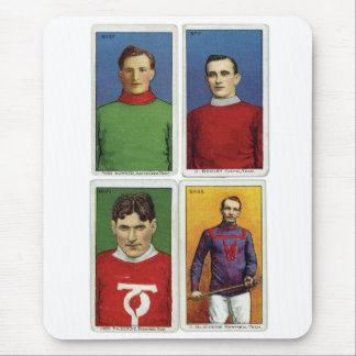 Retro Vintage Kitsch Cigarette Card Field Hockey Mouse Pad