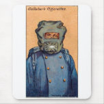 Retro Vintage Kitsch Cigarette Card 'Gas Mask' Mouse Pad