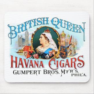 Retro Vintage Kitsch Cigars British Queen Havana Mouse Pad