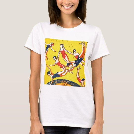 Retro Vintage Kitsch Circus Trapeze Artists T-Shirt