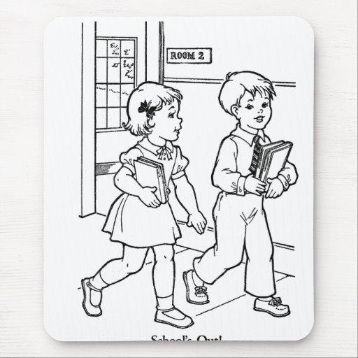 Retro vintage kitsch coloring book schools out kid Coloring book zip vk