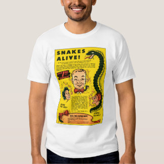 Retro Vintage Kitsch Comic Ad Snakes Alive Tee Shirt