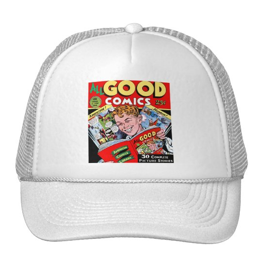 Retro Vintage Kitsch Comic Book All Good Comics Trucker Hat