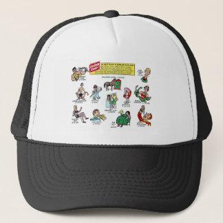 Retro Vintage Kitsch Comic Circus Sideshow Game Trucker Hat