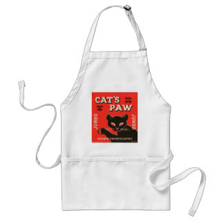 Retro Vintage Kitsch Condom Package Cat's Paw Adult Apron