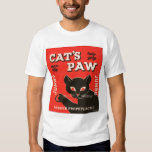 Retro Vintage Kitsch Condom Package Cat's Paw Tee Shirt