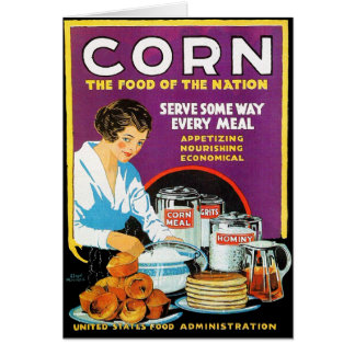 Retro Vintage Kitsch Corn Food of The Nation Card