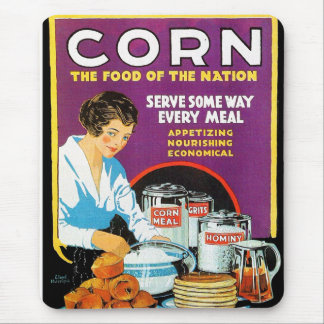 Retro Vintage Kitsch Corn Food of The Nation Mouse Pad