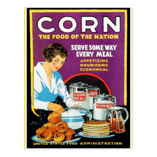 Retro Vintage Kitsch Corn Food of The Nation Post Card