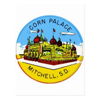 Retro Vintage Kitsch Corn Palace South Dakota Post Card