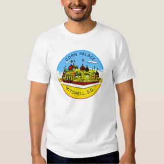 Retro Vintage Kitsch Corn Palace South Dakota T Shirt
