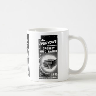 Retro Vintage Kitsch Crosley Car Radio Ad Coffee Mug