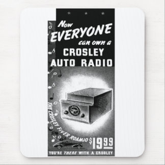 Retro Vintage Kitsch Crosley Car Radio Ad Mouse Pad