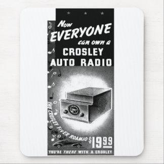 Retro Vintage Kitsch Crosley Car Radio Ad Mouse Pad