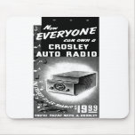 Retro Vintage Kitsch Crosley Car Radio Ad Mouse Pads