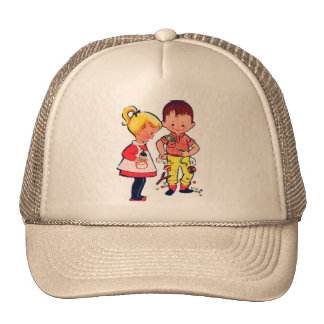 Retro Vintage Kitsch Cute Kids Sugar & Spice Trucker Hat